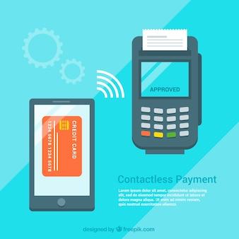 Conctacless conception de fond de paiement