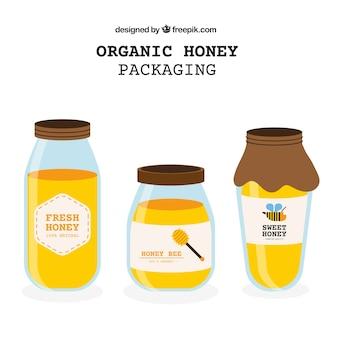 Conditionnement de miel biologique
