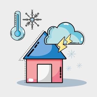 Conditions météorologiques naturelles et température différente