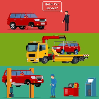 Conducteur inquiet appelant l'assistance routière pour l'aider avec sa voiture de dépannage.