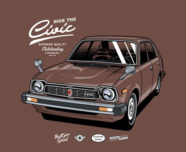 Conduire la voiture classique