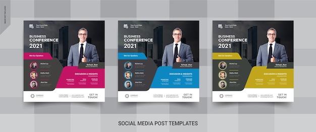 Conférence d'affaires instagram sur les médias sociaux