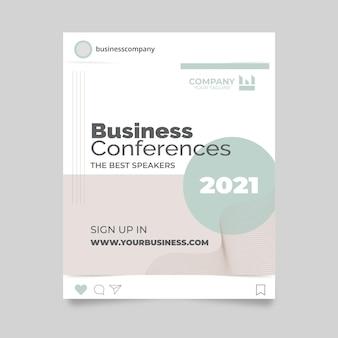 Conférence d'affaires instagram post