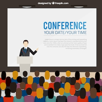 Conférence bannière modèle
