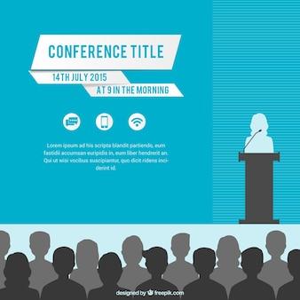Conférence modèle d'affiche