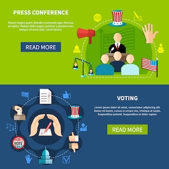 Conférence de presse sur les élections gouvernementales