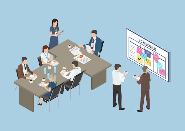 Conférence, séminaire d'entreprise de l'équipe de partenaires