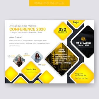 Conférencier horizontal design flyer