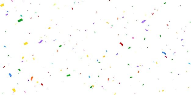 Confetti concept design vacances happy day, célébration de fond.