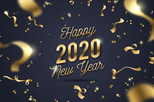 Confetti de fond nouvel an