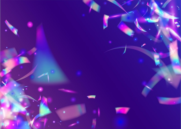 Confettis brillants avec néons