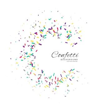 Confettis cadre vecteur célébration fond