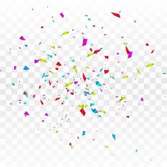 Confettis colorés abstraits isolés