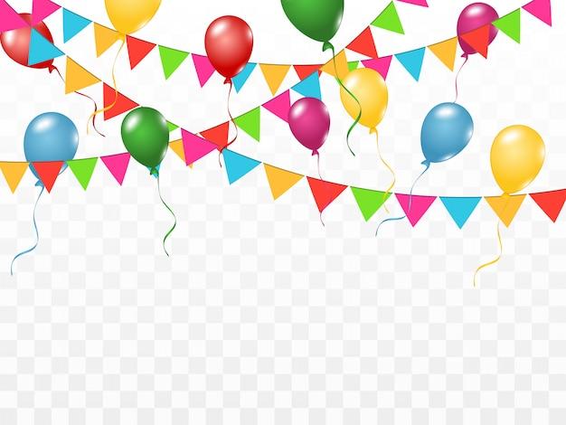 Confettis colorés isolés. contexte festif. bon anniversaire. vacances.