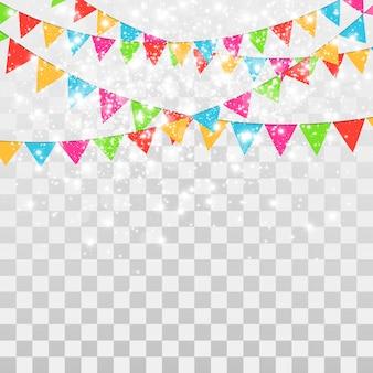 Confettis colorés isolés. fond festif. bon anniversaire. jour de repos.