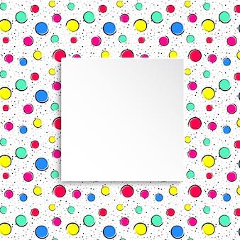 Confettis colorés de pop art.