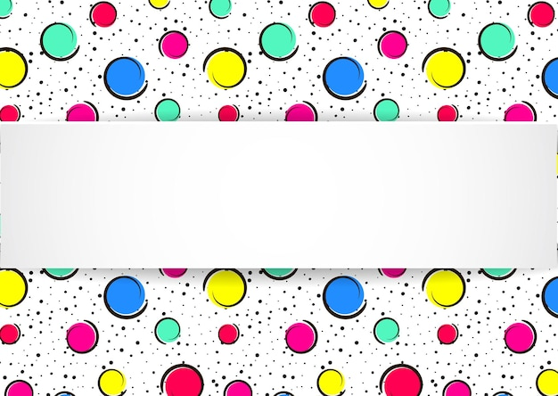 Confettis colorés pop art