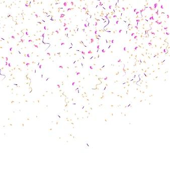 Confettis de couleur isolés. illustration vectorielle de fête
