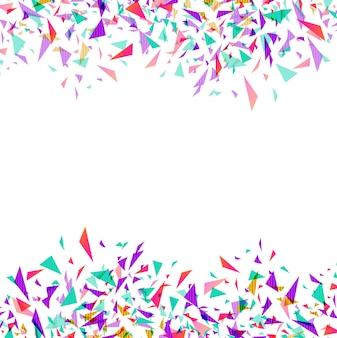 Confettis de vecteur coloré abstrait isolé