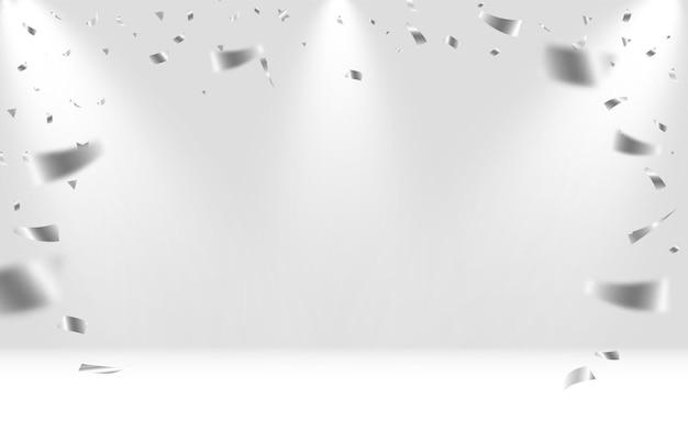 Confettis festifs isolés sur blanc