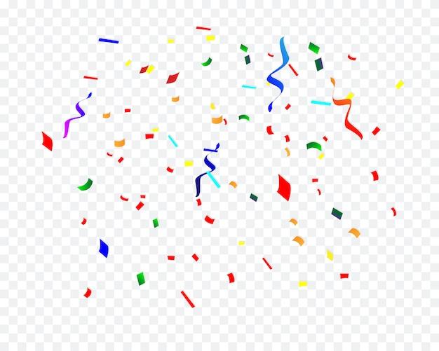 Confettis de fête d'anniversaire isolés
