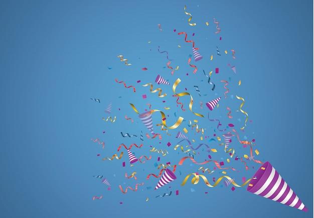 Confettis. illustration festive.