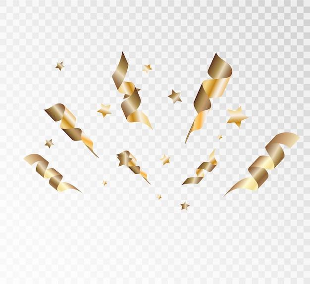 Confettis lumineux colorés isolés. illustration vectorielle festive