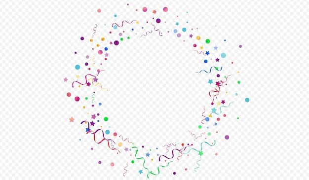 Confettis lumineux heureux fond transparent panoramique