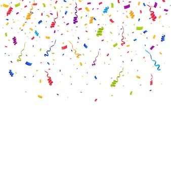 Confettis multicolores fond éclaté