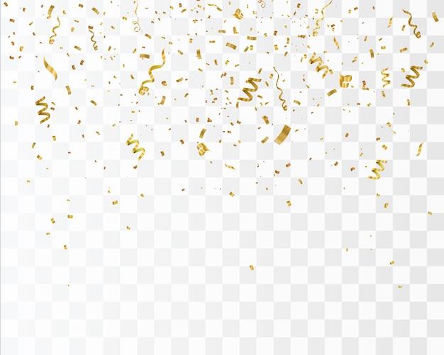 Confettis or isolés. célébrer