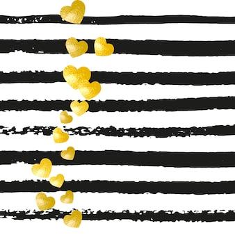 Confettis de paillettes d'or à pois