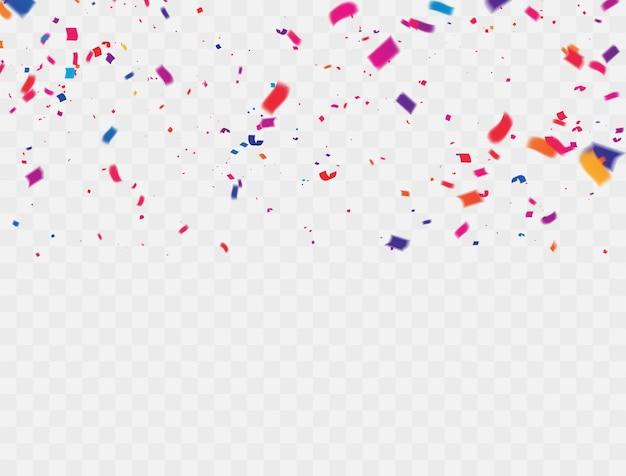 Confettis rubans colorés.