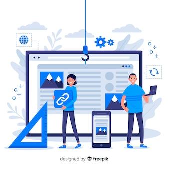 Configuration du site web de la page de destination du concept