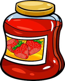 Confiture en illustration de dessin de pot