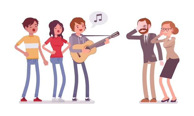 Conflit musical ennuyeux