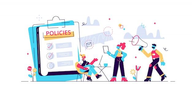 Conformité d'entreprise. culture et politiques d'entreprise. représentation des lois, réglementations et normes commerciales. pratiques éthiques de l'entreprise. illustration créative de concept isolé