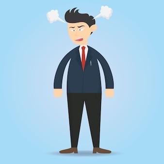 Confus d'homme d'affaires personnage dessins animés dessin vectoriel