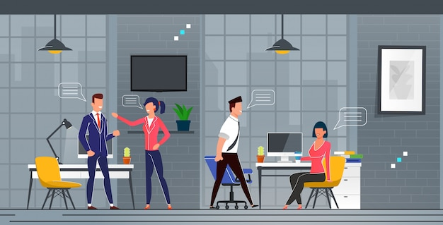 Connaissance et communication dans les nouveaux bureaux.