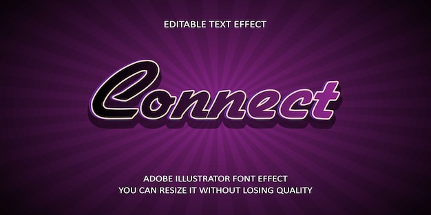 Connecter l'effet de police de texte