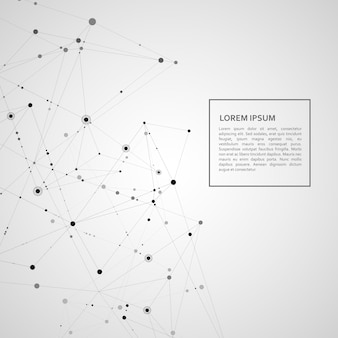 Connectez fond de réseau polygonal. science des lignes et des points