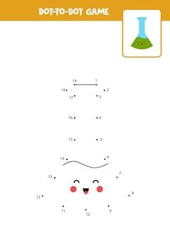 Connectez le jeu de points avec un joli tube à essai.
