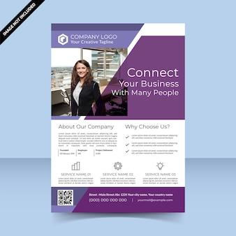 Connectez votre entreprise avec la conception de modèle de flyer de nombreuses personnes