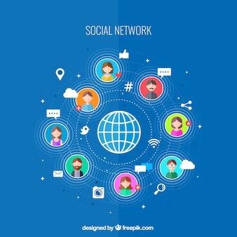 La connectivité de réseau social