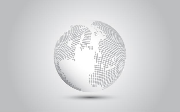 Connexion au réseau mondial contexte de la technologie abstraite de la carte du monde