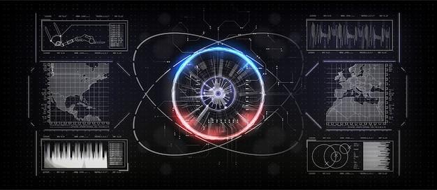 Connexion de carte du monde. concept technologique.