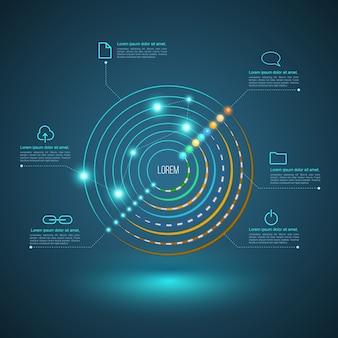 Connexion circulaire pour le concept de câble réseau