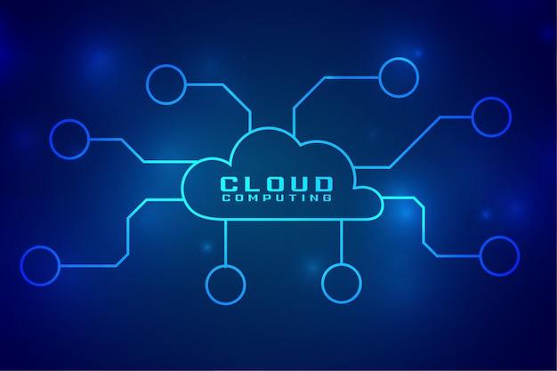 Connexion de concept de technologie numérique cloud computing