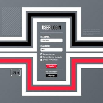 Connexion conception d'écran