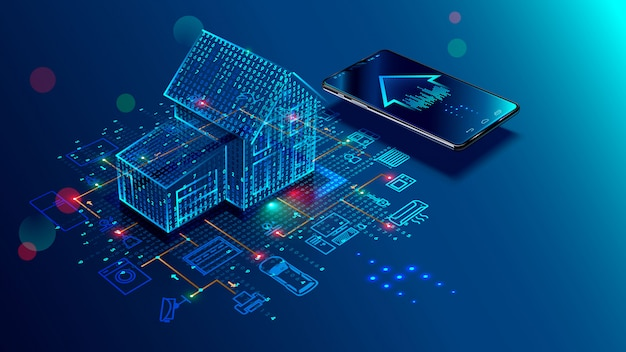 Connexion et contrôle de maison intelligente avec des périphériques via le réseau domestique