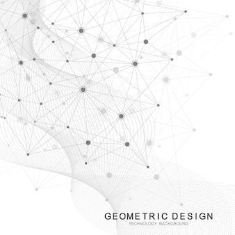 Connexion internet, fond vectoriel abstrait de la conception graphique de la science et de la technologie.